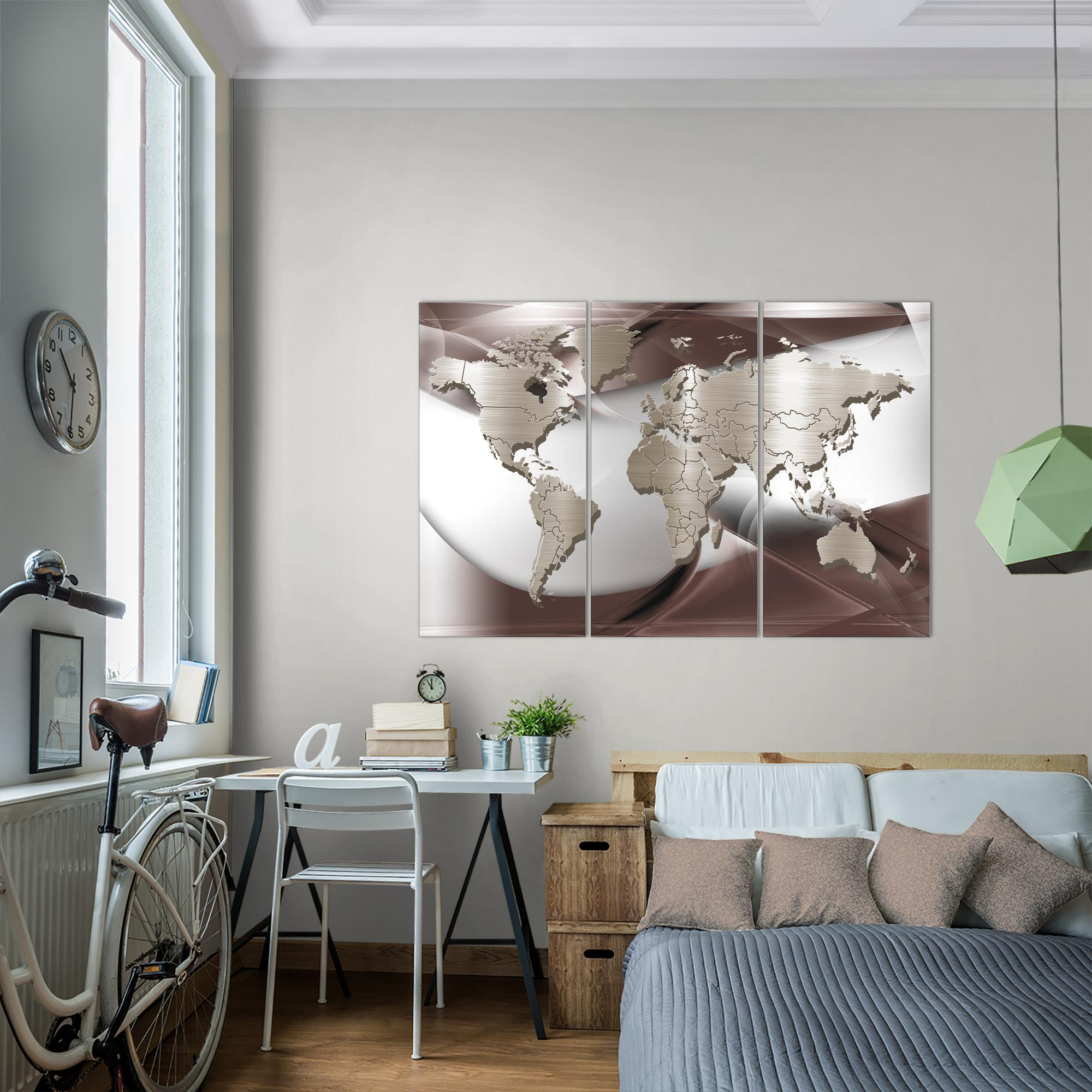 weltkarte world map bild kunstdruck auf vlies leinwand xxl dekoration 109231p. Black Bedroom Furniture Sets. Home Design Ideas