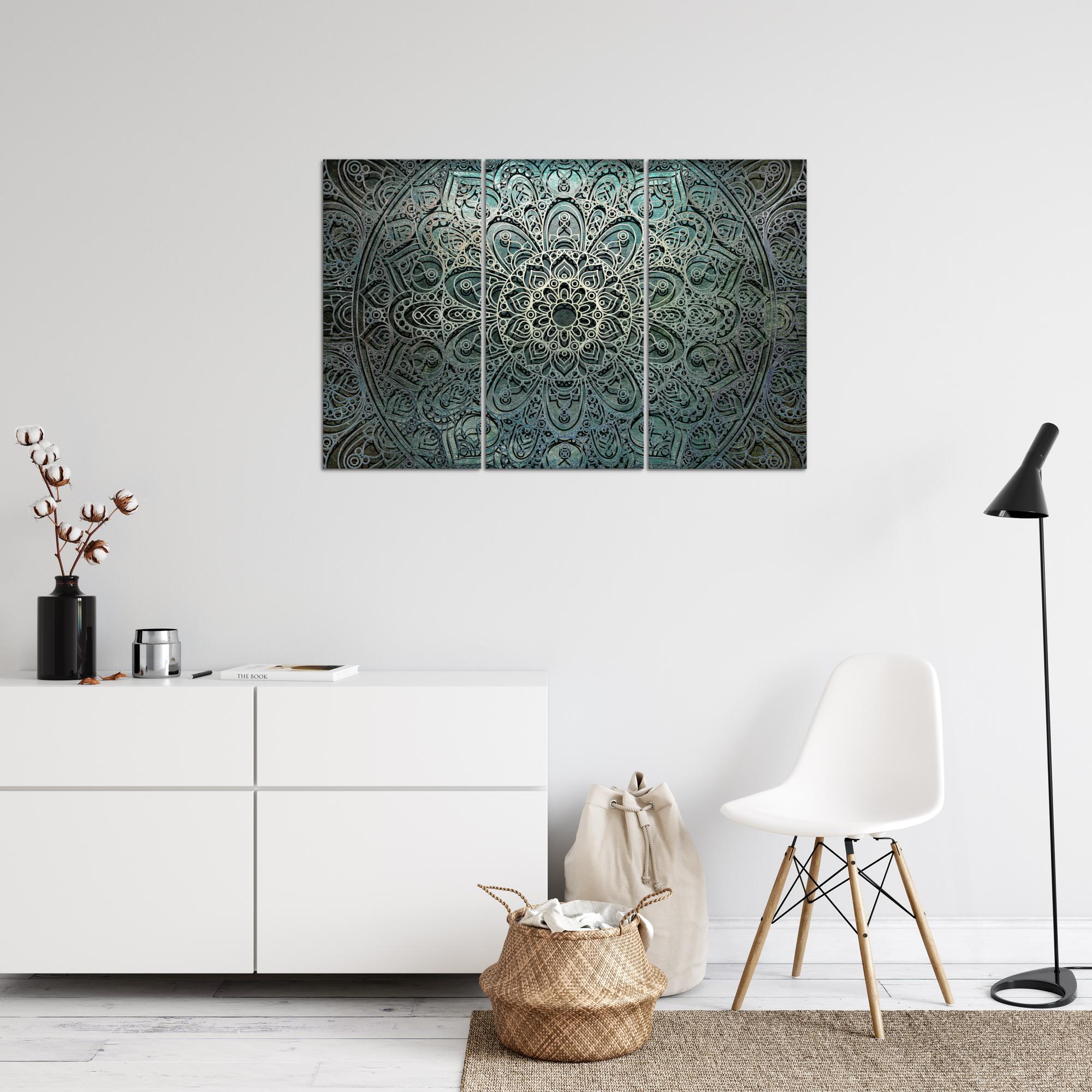 Mandala Abstrakt Bild Kunstdruck Auf Vlies Leinwand Xxl