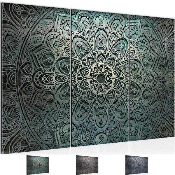 Mandala Abstrakt BILD KUNSTDRUCK  - AUF VLIES LEINWAND - XXL DEKORATION  109431P