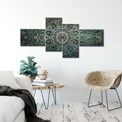Mandala Abstrakt BILD KUNSTDRUCK  - AUF VLIES LEINWAND - XXL DEKORATION  10944P  Bild 5