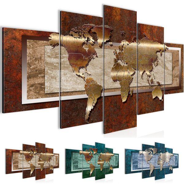 Weltkarte World Map BILD KUNSTDRUCK  - AUF VLIES LEINWAND - XXL DEKORATION  10675P