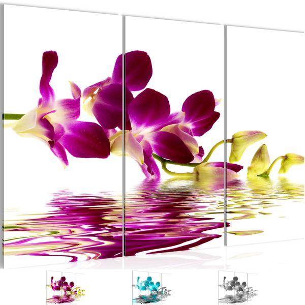 Blumen Orchidee BILD KUNSTDRUCK  - AUF VLIES LEINWAND - XXL DEKORATION  200031P
