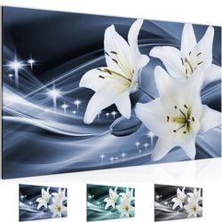 Blumen Lilien BILD KUNSTDRUCK  - AUF VLIES LEINWAND - XXL DEKORATION  20081P  Bild 1