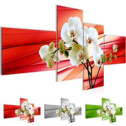 Blumen Orchidee BILD KUNSTDRUCK  - AUF VLIES LEINWAND - XXL DEKORATION  20204P  Bild 1