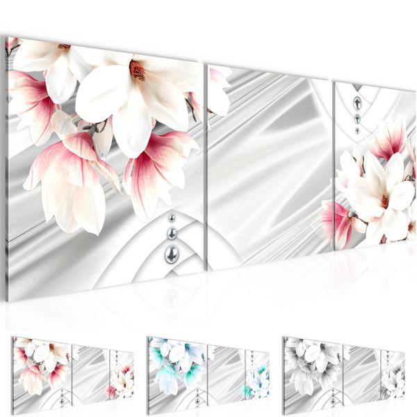 Blumen Magnolien BILD KUNSTDRUCK  - AUF VLIES LEINWAND - XXL DEKORATION  203834P