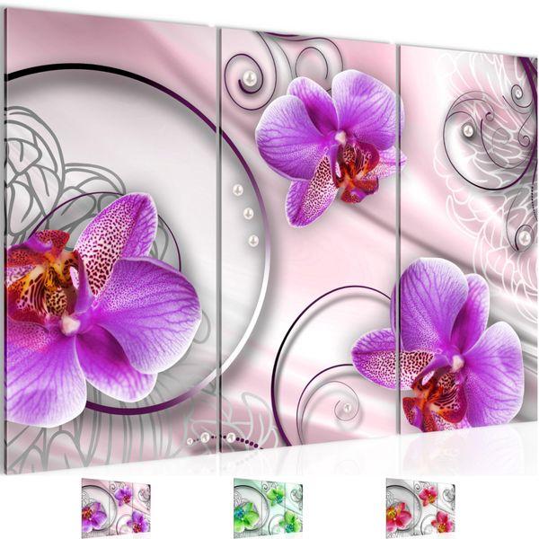 Blumen Orchidee BILD KUNSTDRUCK  - AUF VLIES LEINWAND - XXL DEKORATION  208331P