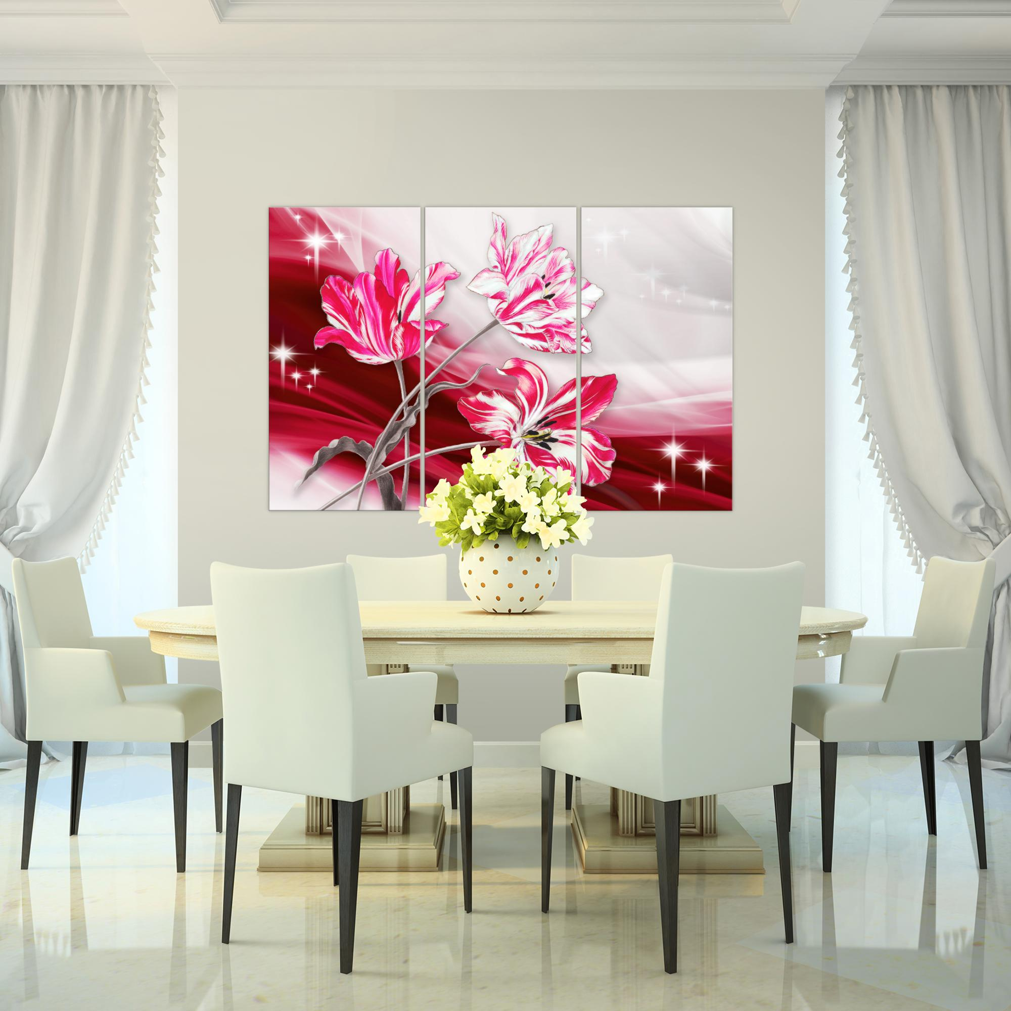 blumen tulpen bild kunstdruck auf vlies leinwand xxl dekoration 209231p. Black Bedroom Furniture Sets. Home Design Ideas