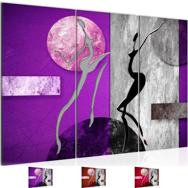 Abstrakt Figuren BILD KUNSTDRUCK  - AUF VLIES LEINWAND - XXL DEKORATION  301131P