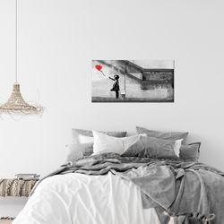 Banksy - Ballon Girl BILD KUNSTDRUCK  - AUF VLIES LEINWAND - XXL DEKORATION  301614P  Bild 7