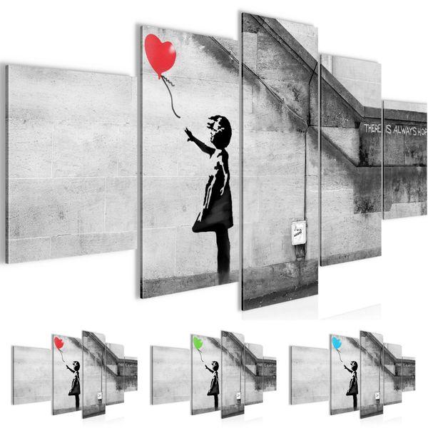 Banksy - Ballon Girl BILD KUNSTDRUCK  - AUF VLIES LEINWAND - XXL DEKORATION  30165P