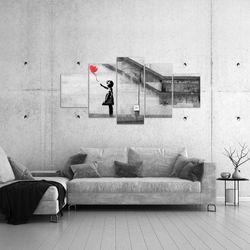 Banksy - Ballon Girl BILD KUNSTDRUCK  - AUF VLIES LEINWAND - XXL DEKORATION  30165P  Bild 4