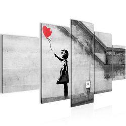 Banksy - Ballon Girl BILD KUNSTDRUCK  - AUF VLIES LEINWAND - XXL DEKORATION  30165P  Bild 2