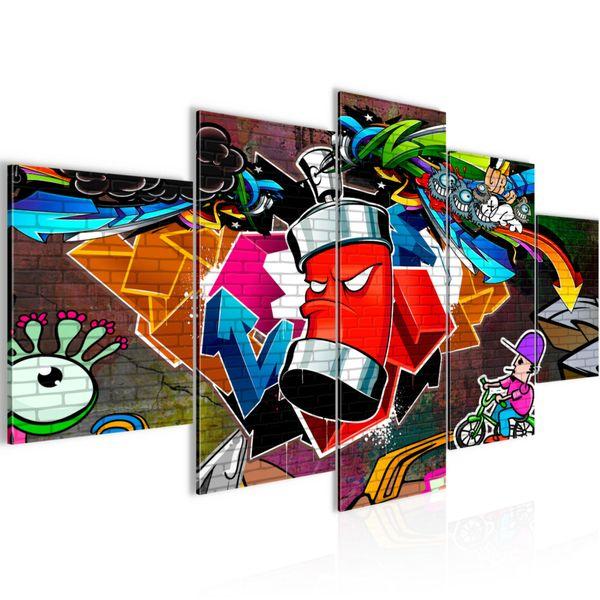 Graffiti Streetart BILD KUNSTDRUCK  - AUF VLIES LEINWAND - XXL DEKORATION  40185P