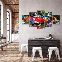 Graffiti Street Art BILD KUNSTDRUCK  - AUF VLIES LEINWAND - XXL DEKORATION  40185P  Bild 5