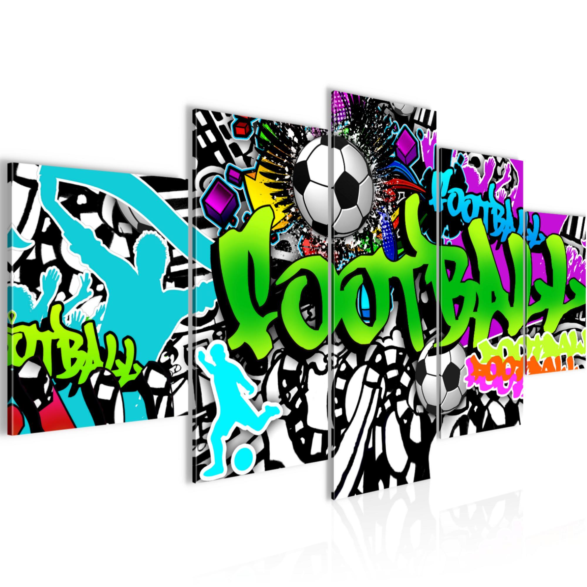 Fussball Graffiti Bild Kunstdruck Auf Vlies Leinwand Xxl Dekoration 40265p