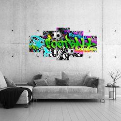 Fussball Graffiti BILD KUNSTDRUCK  - AUF VLIES LEINWAND - XXL DEKORATION  40265P  Bild 4