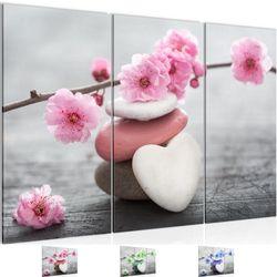 Feng Shui Blumen BILD KUNSTDRUCK  - AUF VLIES LEINWAND - XXL DEKORATION  500131P  Bild 1