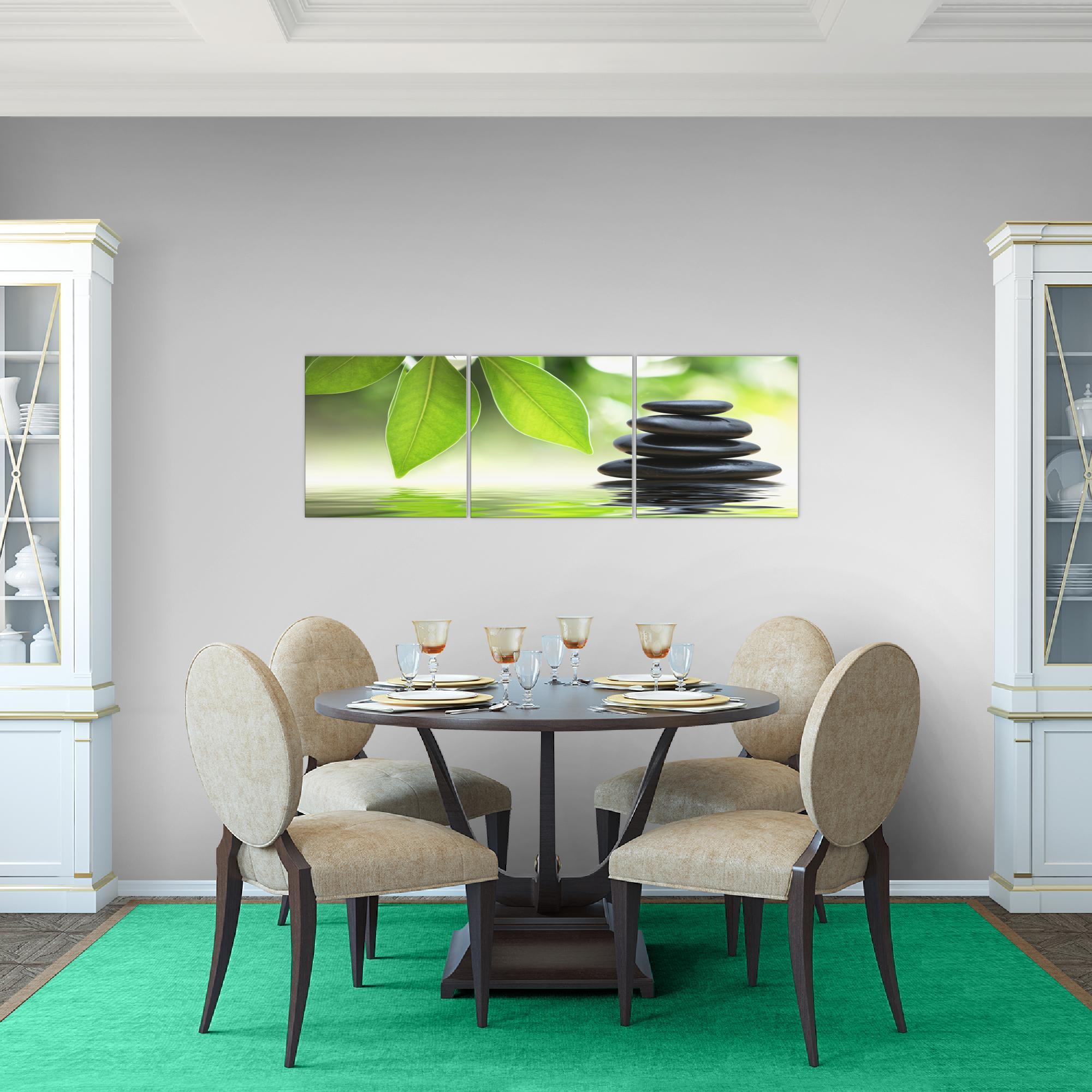 bild feng shui auf vlies leinwand xxl bilder wandbild. Black Bedroom Furniture Sets. Home Design Ideas