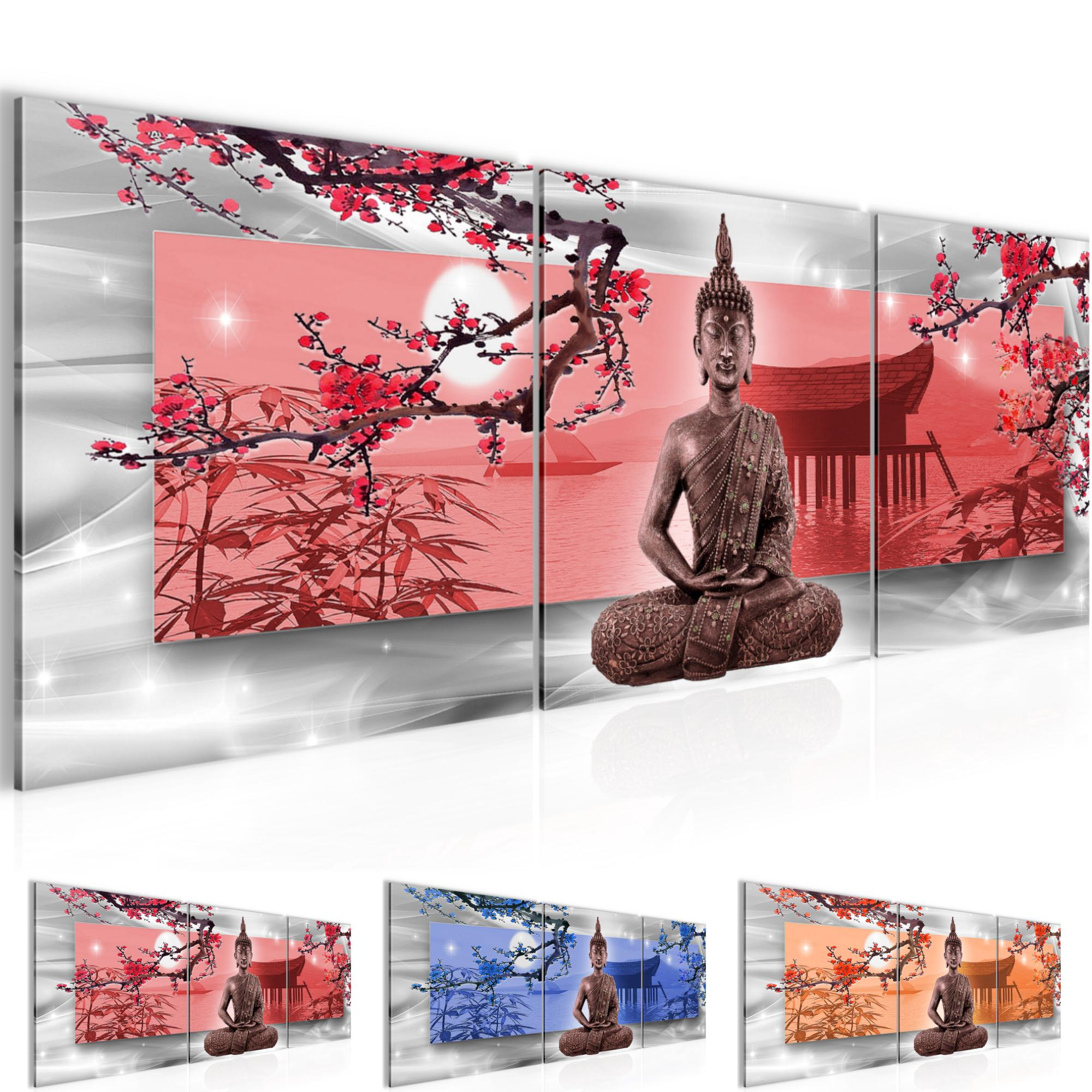buddha feng shui bild kunstdruck auf vlies leinwand xxl dekoration 504934p. Black Bedroom Furniture Sets. Home Design Ideas