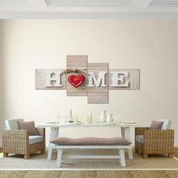 Home Herz BILD KUNSTDRUCK  - AUF VLIES LEINWAND - XXL DEKORATION  50524P  Bild 3