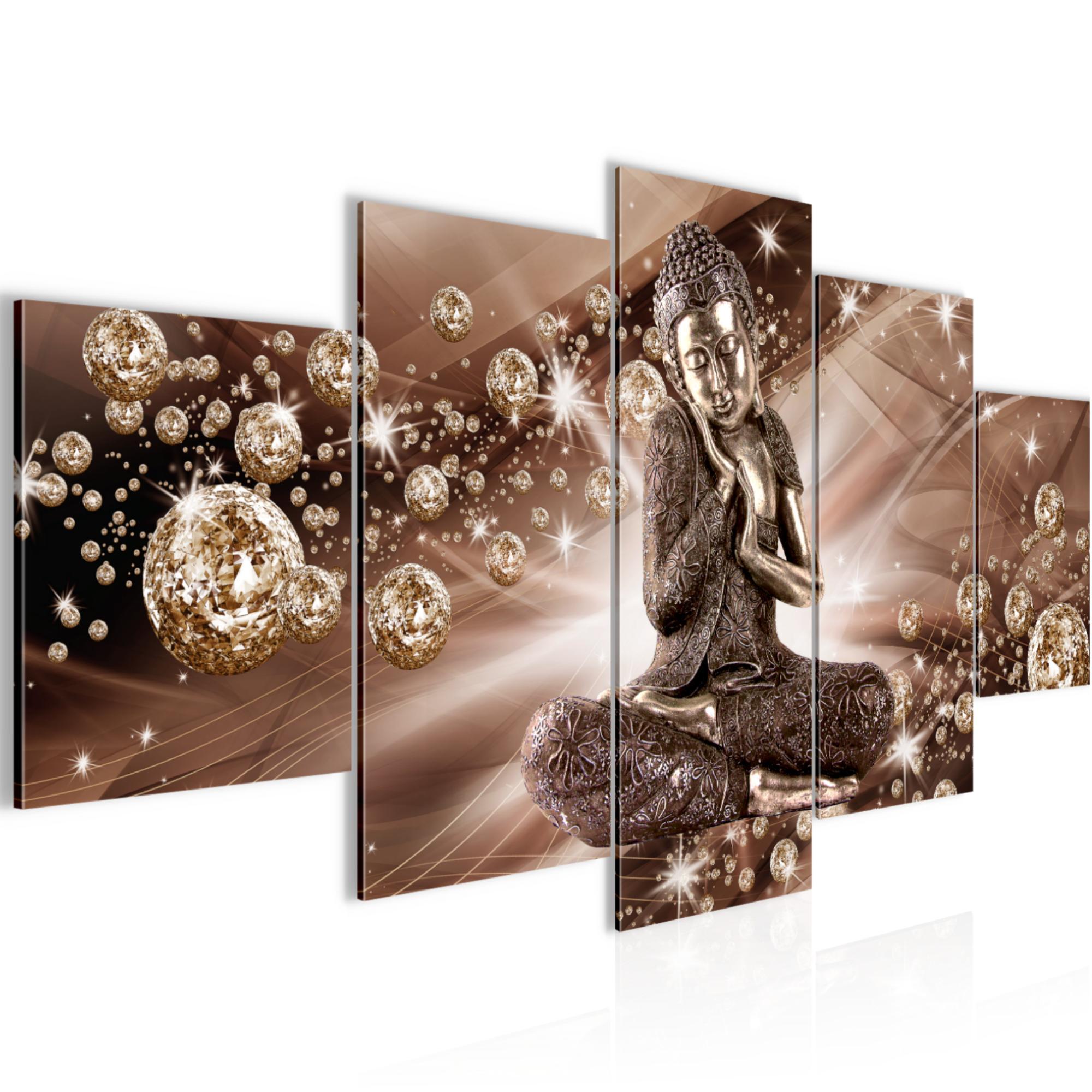 Buddha Bild Bilder Wandbild XXL 200x100 cm Leinwand aus Vlies Kunstdruck