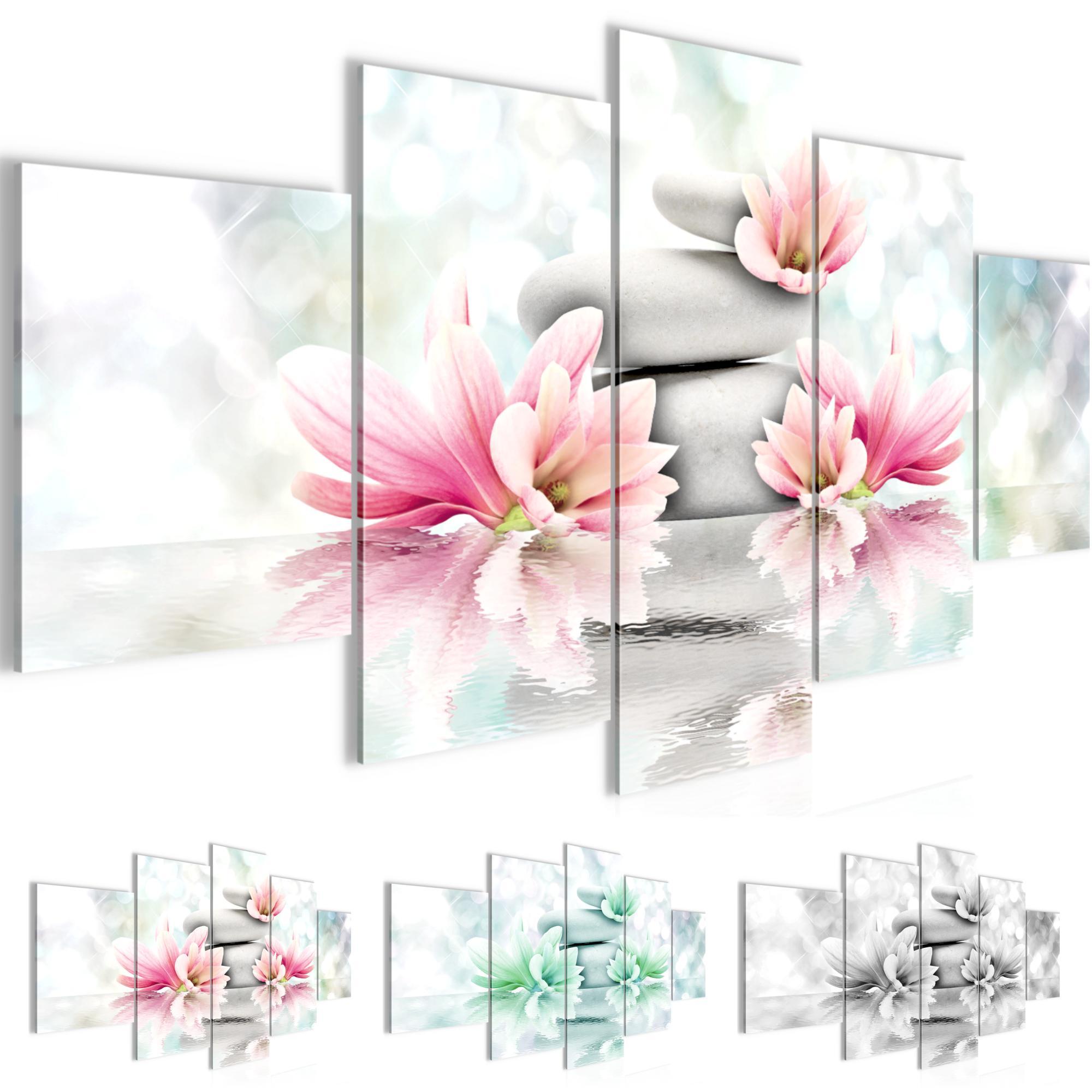 Blumen Feng Shui Bild Kunstdruck Auf Vlies Leinwand Xxl Dekoration 50585p