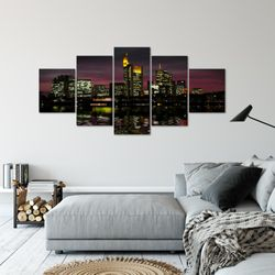 Frankfurt am Main Stadt BILD KUNSTDRUCK  - AUF VLIES LEINWAND - XXL DEKORATION  60085P  Bild 6