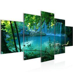 Wasserfall Landschaft BILD KUNSTDRUCK  - AUF VLIES LEINWAND - XXL DEKORATION  60285P  Bild 2
