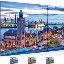 Stadt Hamburg BILD KUNSTDRUCK  - AUF VLIES LEINWAND - XXL DEKORATION  603031P  Bild 1