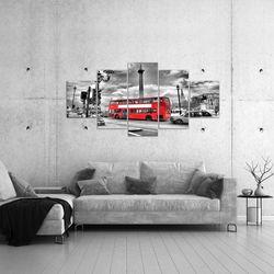 London Bus BILD KUNSTDRUCK  - AUF VLIES LEINWAND - XXL DEKORATION  60475P  Bild 4