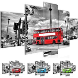 London Bus BILD KUNSTDRUCK  - AUF VLIES LEINWAND - XXL DEKORATION  60475P  001