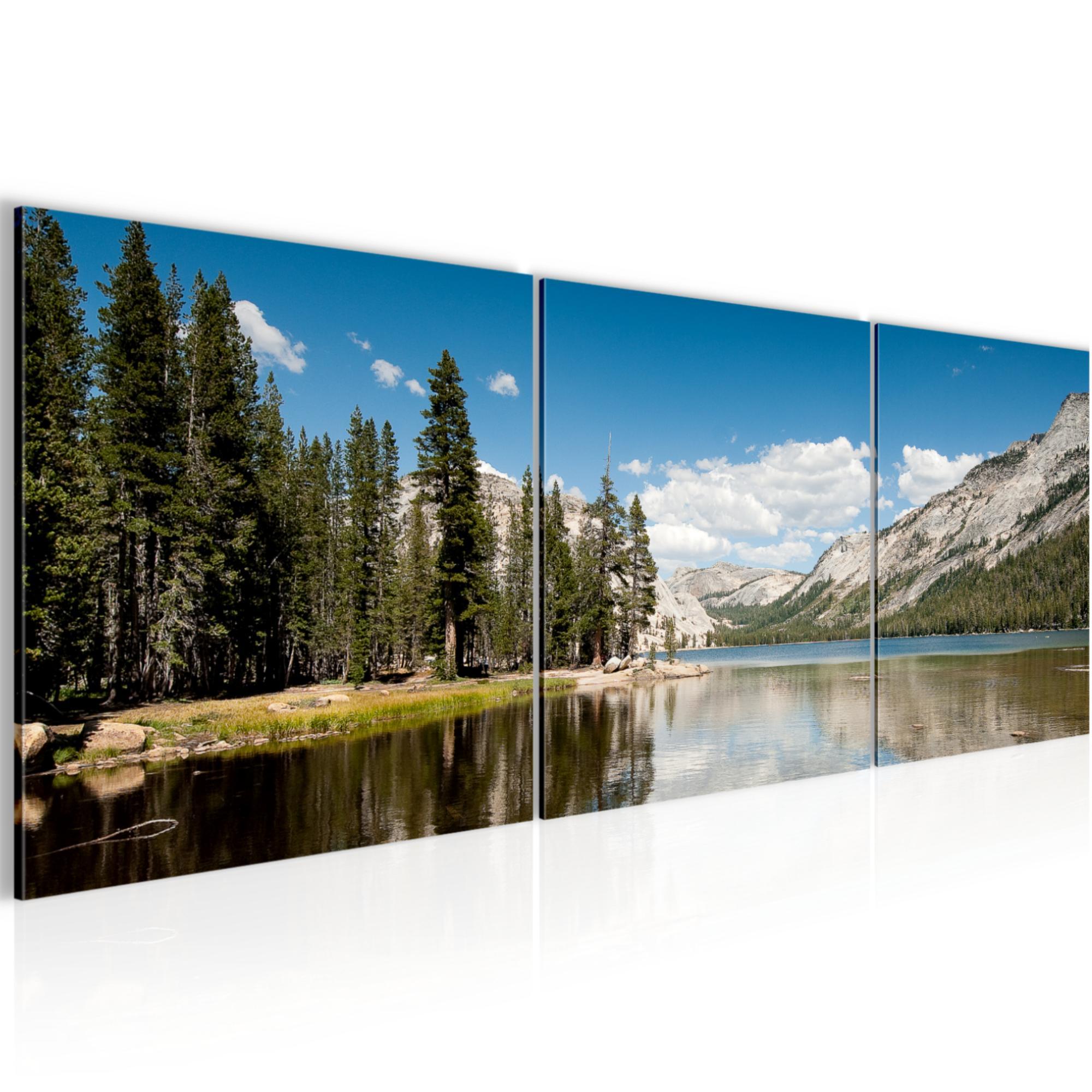 Kunstdruck Leinwand aus Vlies Deko Bild Bilder Wandbild XXL Berg Landschaft