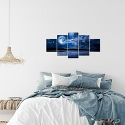 Mond Himmel BILD KUNSTDRUCK  - AUF VLIES LEINWAND - XXL DEKORATION  60755P  Bild 7