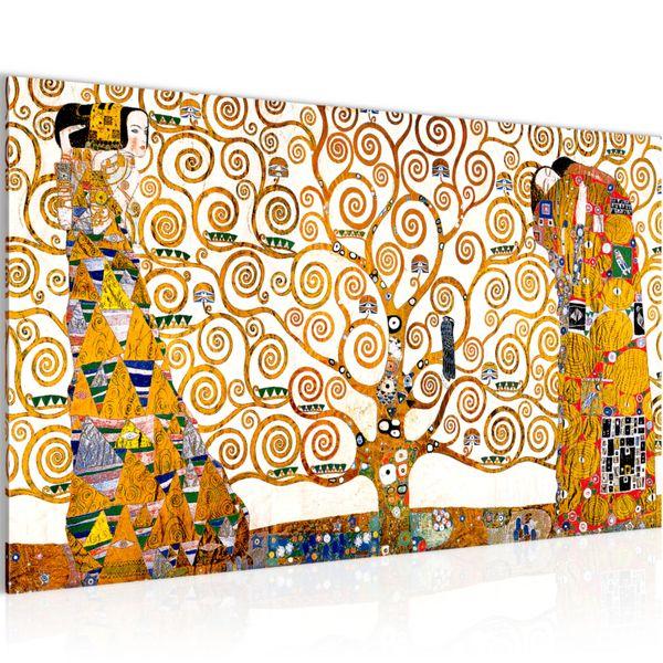 Gustav Klimt - Tree of Life BILD KUNSTDRUCK  - AUF VLIES LEINWAND - XXL DEKORATION  700014P