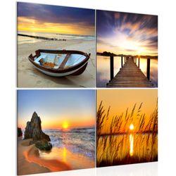 Sonnenuntergang Strand BILD KUNSTDRUCK  - AUF VLIES LEINWAND - XXL DEKORATION  605944P  Bild 1