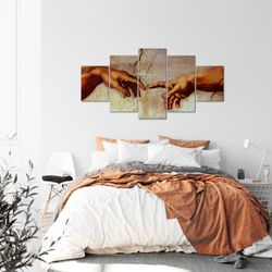 Creation of Adam MichelAngelo BILD KUNSTDRUCK  - AUF VLIES LEINWAND - XXL DEKORATION  70015P  Bild 3