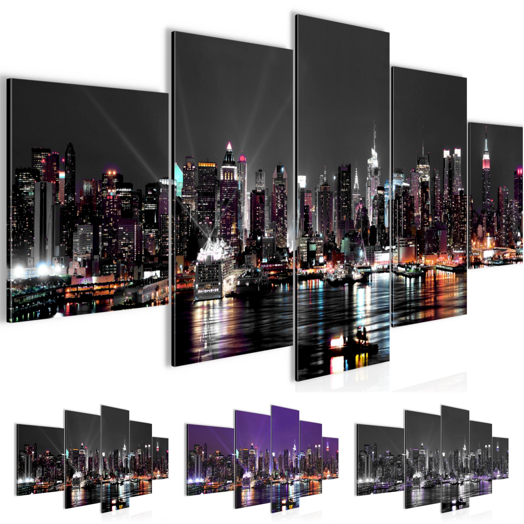 new york city bild kunstdruck auf vlies leinwand xxl dekoration 60195p. Black Bedroom Furniture Sets. Home Design Ideas