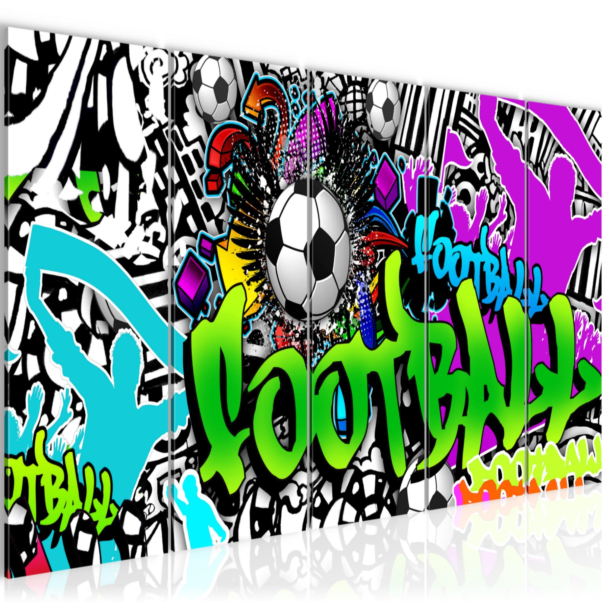 WANDBILDER XXL BILDER Fussball Graffiti VLIES LEINWAND BILD KUNSTDRUCK 402655P