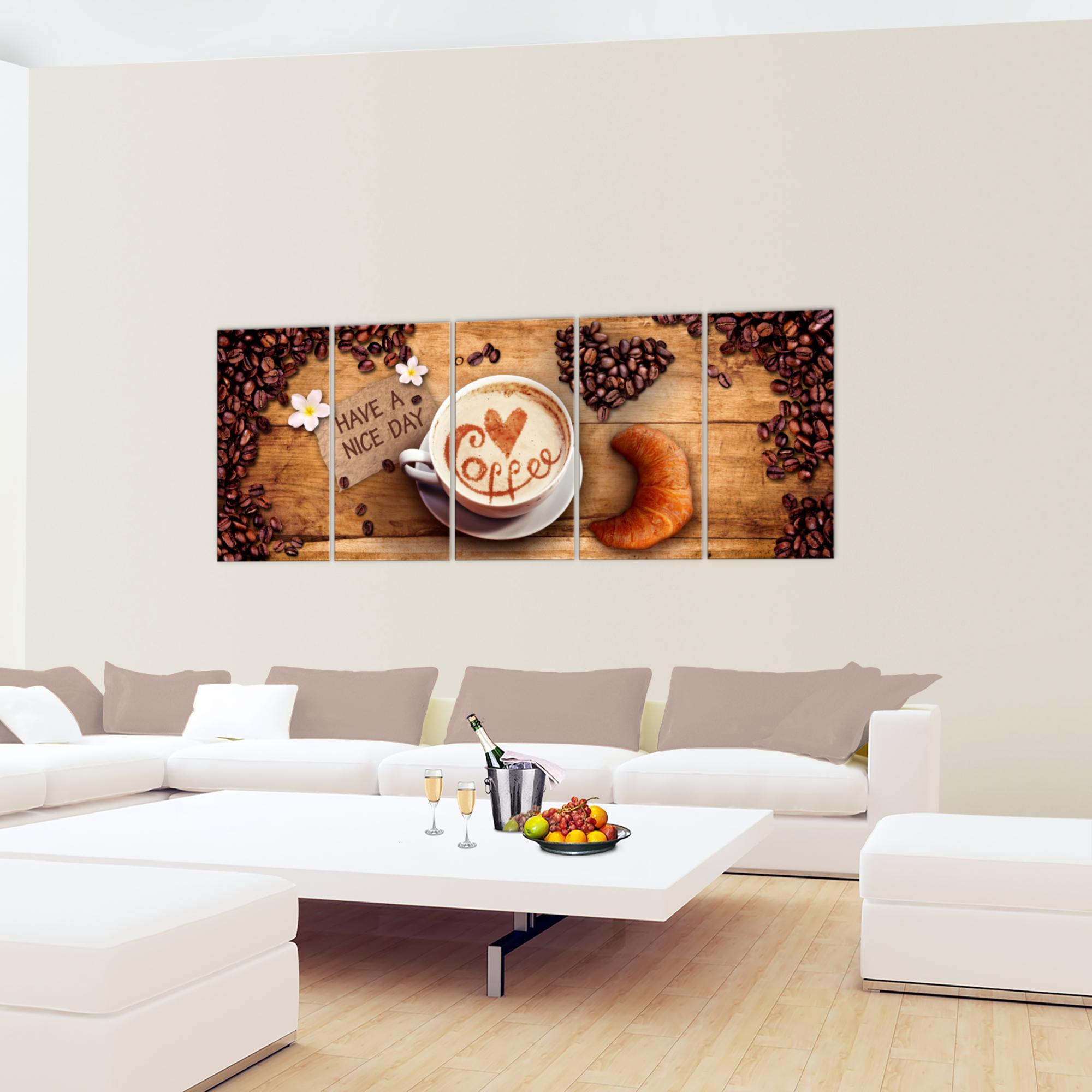 Küche Kaffee BILD KUNSTDRUCK - AUF VLIES LEINWAND - XXL DEKORATION 501255P