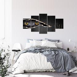 Katzen Auge BILD KUNSTDRUCK  - AUF VLIES LEINWAND - XXL DEKORATION  00265P  Bild 3