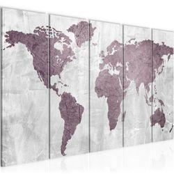 Weltkarte World map BILD KUNSTDRUCK  - AUF VLIES LEINWAND - XXL DEKORATION  104355P  Bild 2