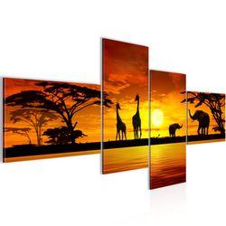 Afrika Sonnenuntergang BILD KUNSTDRUCK  - AUF VLIES LEINWAND - XXL DEKORATION  000245P  Bild 2