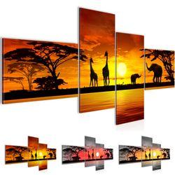 Afrika Sonnenuntergang BILD KUNSTDRUCK  - AUF VLIES LEINWAND - XXL DEKORATION  000245P  Bild 1