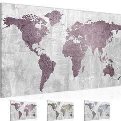 Weltkarte World map BILD KUNSTDRUCK  - AUF VLIES LEINWAND - XXL DEKORATION  104314P  Bild 1