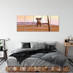 Afrika Elefant BILD KUNSTDRUCK  - AUF VLIES LEINWAND - XXL DEKORATION  002055P  Bild 3