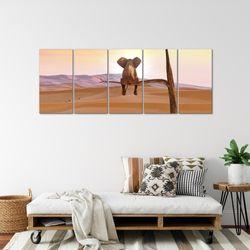 Afrika Elefant BILD KUNSTDRUCK  - AUF VLIES LEINWAND - XXL DEKORATION  002055P  Bild 4