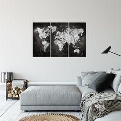 Weltkarte World map BILD KUNSTDRUCK  - AUF VLIES LEINWAND - XXL DEKORATION  002931P  Bild 5