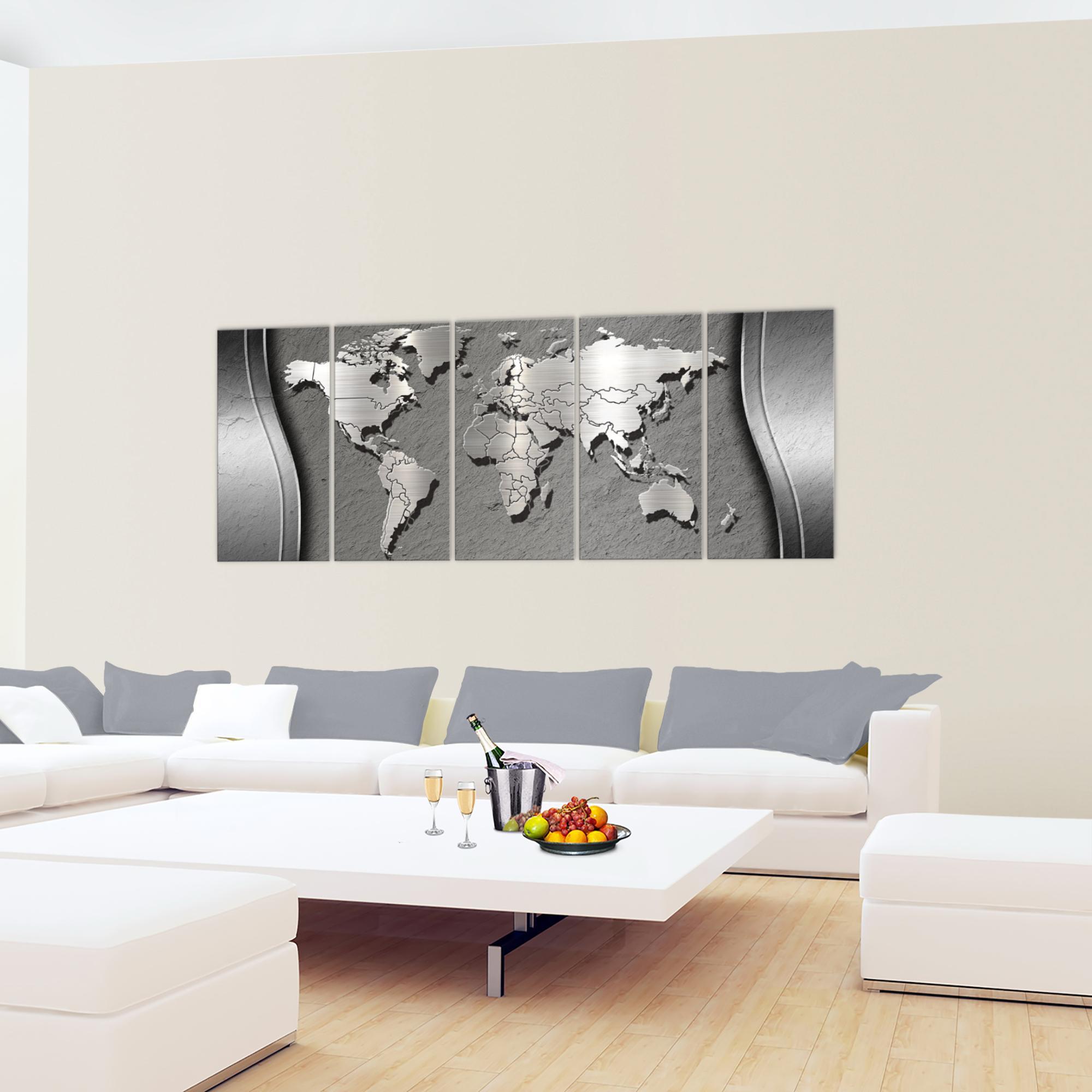 weltkarte world map bild kunstdruck auf vlies leinwand xxl dekoration 107255p. Black Bedroom Furniture Sets. Home Design Ideas