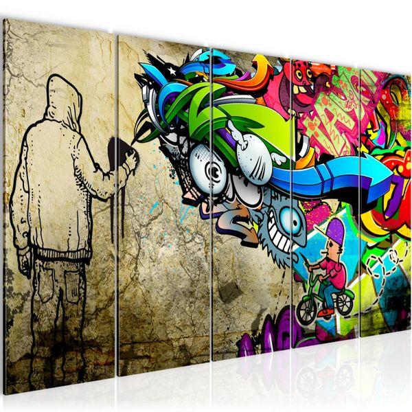 Graffiti Street Art BILD KUNSTDRUCK  - AUF VLIES LEINWAND - XXL DEKORATION  401955P