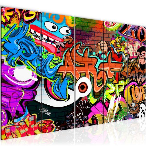 Graffiti Street Art BILD KUNSTDRUCK  - AUF VLIES LEINWAND - XXL DEKORATION  402155P